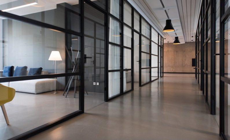 A Hallway in an Elegant Office
