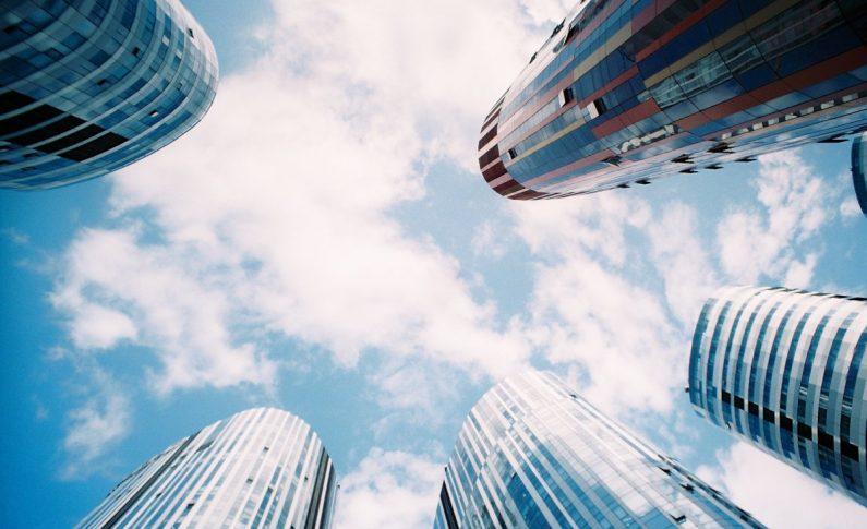 Several Modern Skyscrapers